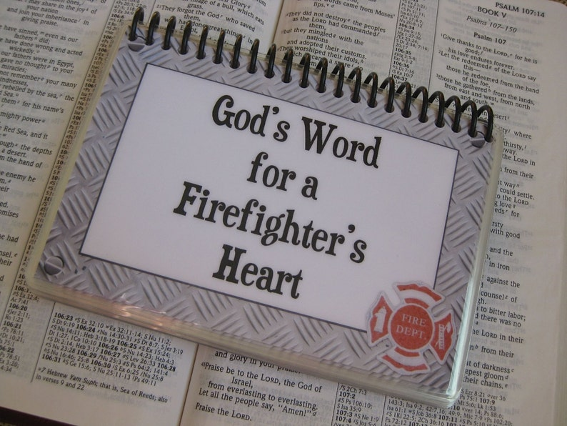 God's Word for a Fire Fighter's Heart Spiral-Bound image 0