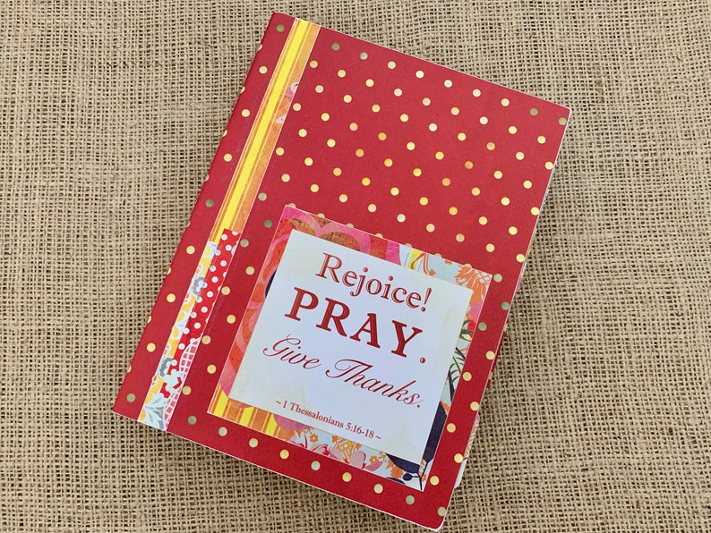 Legacy Prayer Journal Bound Book Red with Gold Light Green image 0