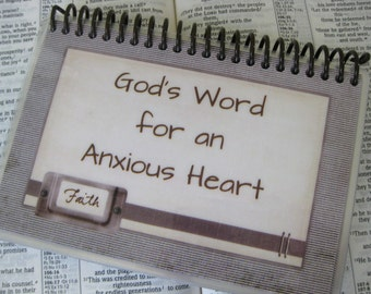 God's Word for an Anxious Heart, Sprial-Bound, Laminated Scripture Cards
