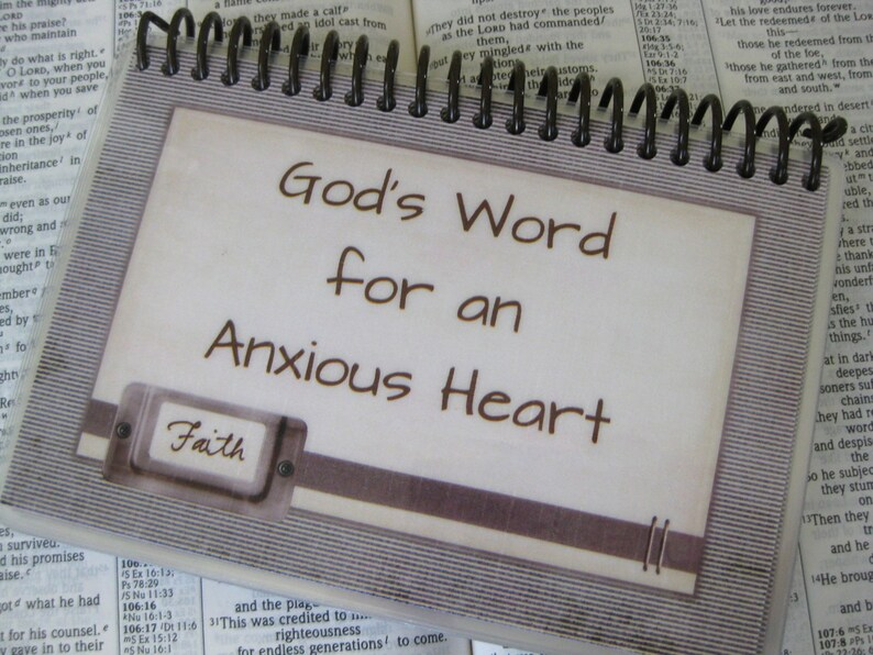 God's Word for an Anxious Heart Sprial-Bound Laminated image 0