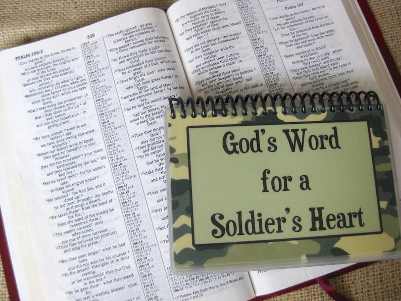 God's Word for a Soldier's Heart Spiral-Bound image 0