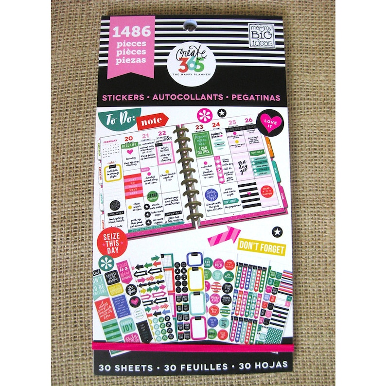 Everyday Plans Create 365 Happy Planner Sticker Value Pack image 0