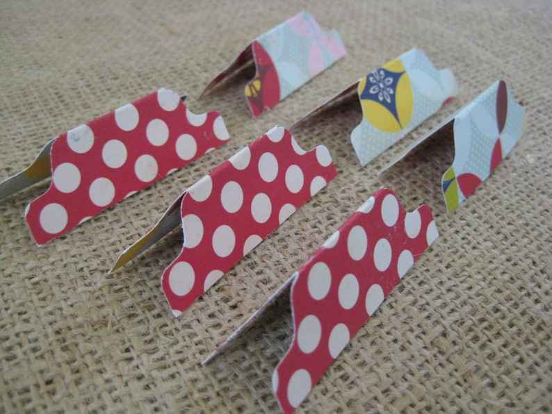 Divider Tabs: Double-sided Decorative Scrapbooking Paper Red image 0