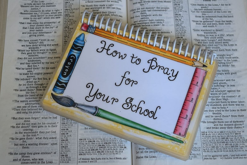 How to Pray for Your School Spiral-Bound Laminated Prayer image 0