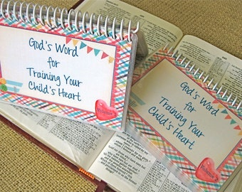 SALE - God's Word for Training Your Child's Heart Combo Set - Volume 1 AND Volume 2, Spiral-Bound, Laminated Cards