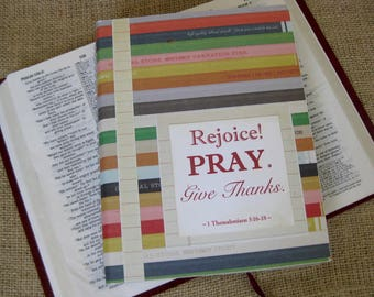 Legacy Prayer Journal, Bound Book, Colored Pencil Stripes with Notebook Paper Accents