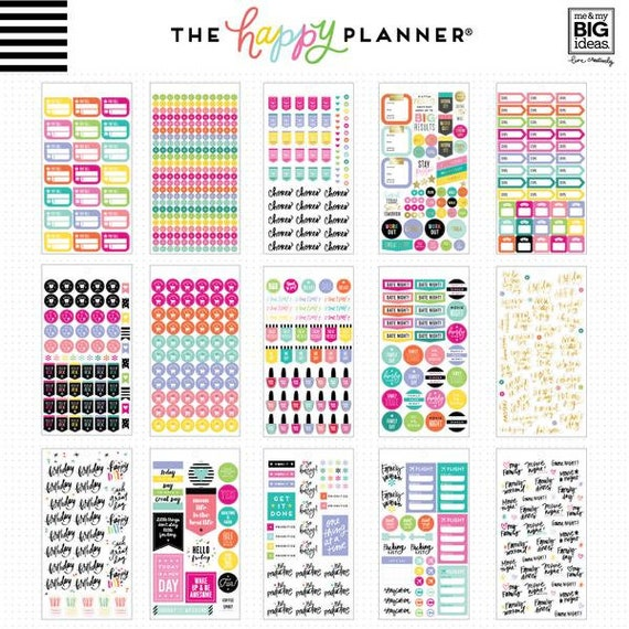 "6 Me /& My Big Ideas Create 365 The Happy Planner /""don/'t Forget/"" Stickers"