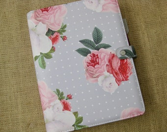 """Webster's Pages Composition Day Planner Cover in the """"Grey Floral"""" Design for itsjustemmy Planners"""