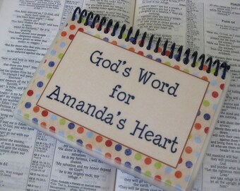 God's Word for an Anxious Heart, PERSONALIZED, Sprial-Bound, Laminated Scripture Cards
