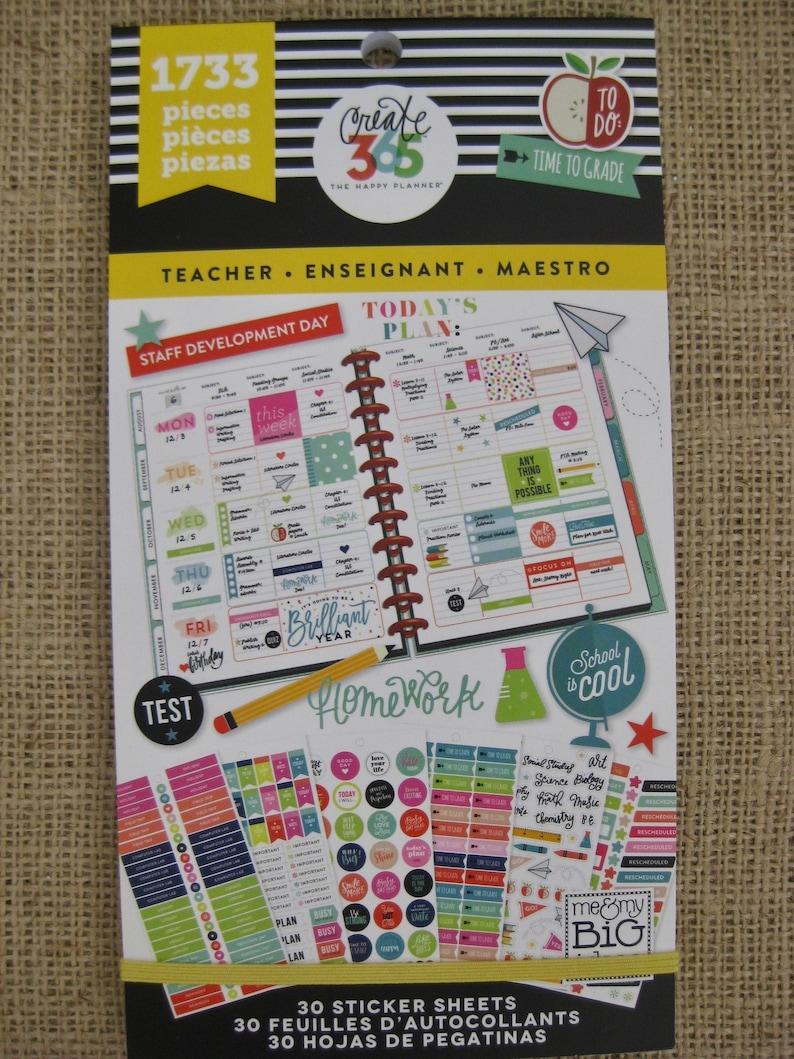 Teacher Create 365 Happy Planner Sticker Value Pack 1733 image 1