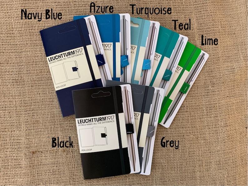 Colored Pen Loop Blues/Greens Self-Adhesive Pen/Pencil image 0