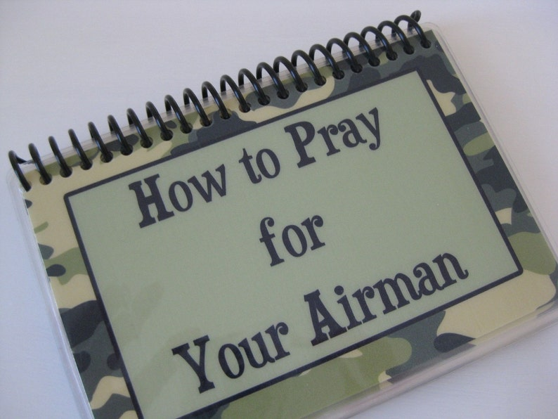 How to Pray for Your Airman Spiral-Bound Laminated Prayer image 0