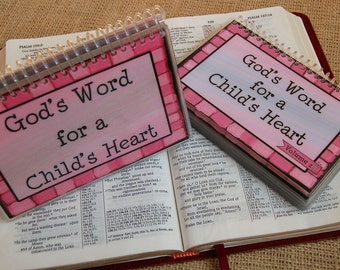 SALE - God's Word for a Child's Heart PERSONALIZED Combo Set - Volume 1 AND Volume 2, Spiral-Bound, Laminated Cards