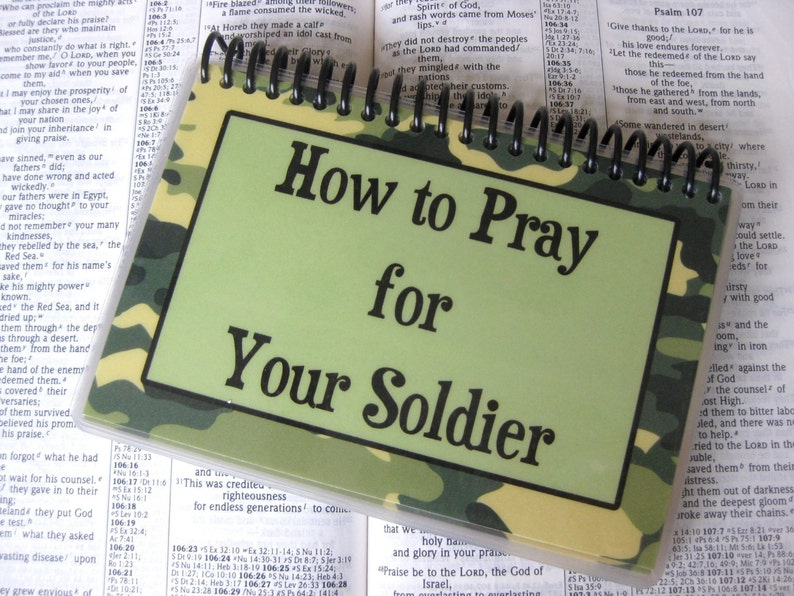 How to Pray for Your Soldier Spiral-Bound Laminated Prayer image 0