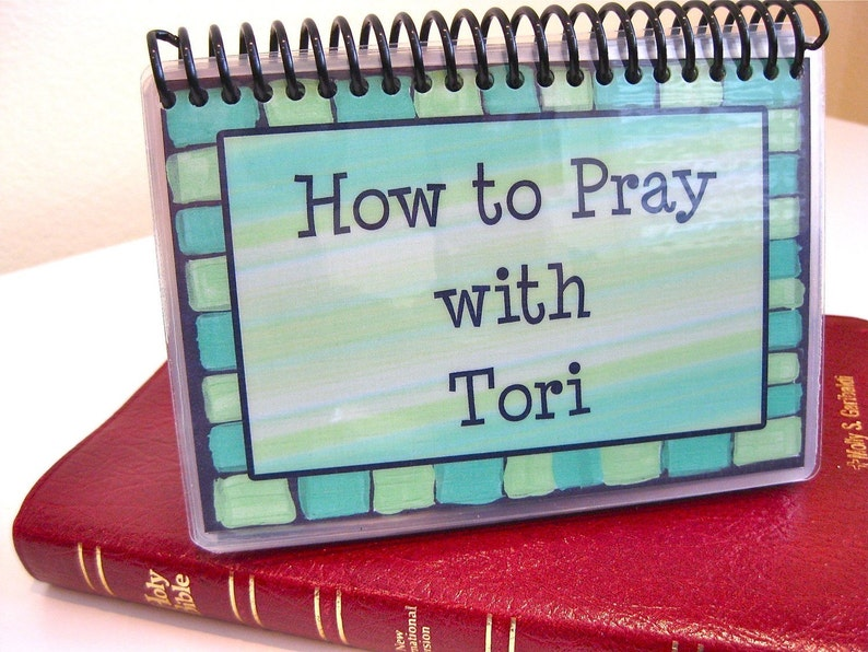 How to Pray With Your Child  PERSONALIZED Set Spiral-Bound image 0