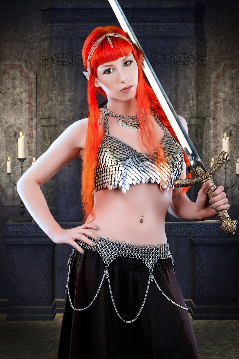 Song of the Stars-Chainmail Bellydance Belt