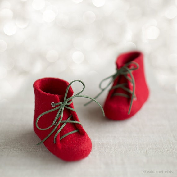 Baby's first Christmas shoes Newborn