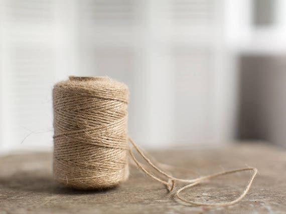 Rustic Natural Twisted Burlap Jute Cord For Wedding Gift Wrap Many Colors C