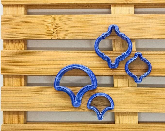 Polymer Clay Shape Cutters | Set of 4 | Lanterna e Coda di Pavone | Clay Tools
