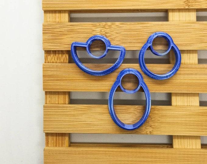 Polymer Clay Shape Cutters | Set of 3 | Orecchini Geometrici | Clay Tools
