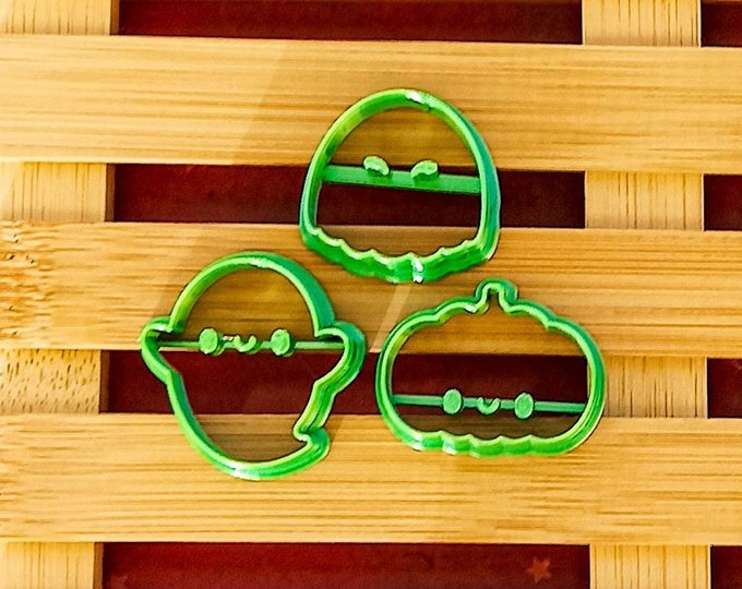 Halloween 1   Polymer Clay Shape Cutters   Set of 3   Clay Tools
