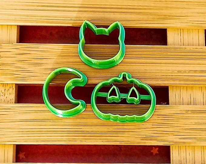 Halloween 2   Polymer Clay Shape Cutters   Set of 3   Clay Tools