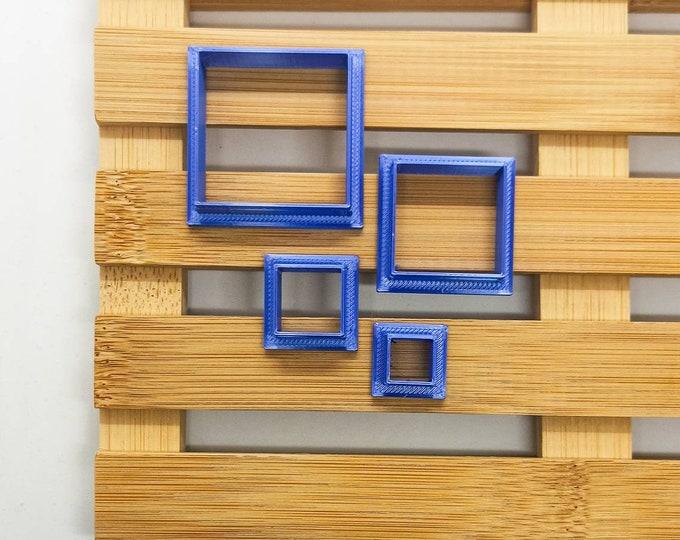 Polymer Clay Shape Cutters | Set of 4 | Quadrati | Clay Tools