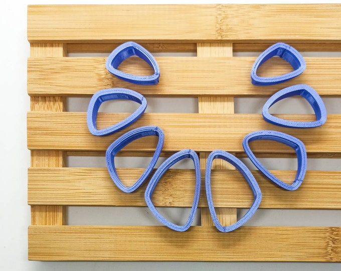 Polymer Clay Shape Cutters | Set of 8 | Triangoli Stondati | Clay Tools