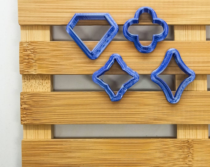 Polymer Clay Shape Cutters | Set of 4 | Casinò | Clay Tools