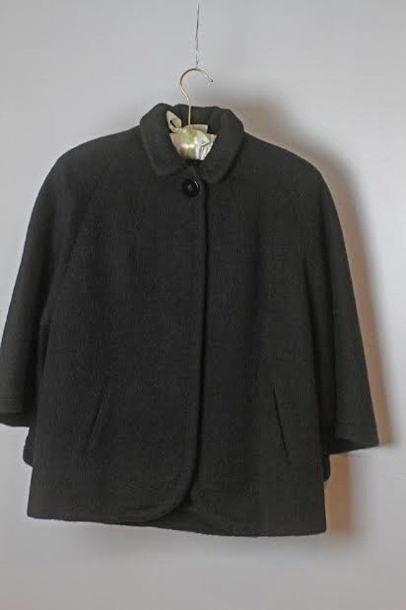 Wool/Cashmere Milgrim Cape Jacket, 1940's, Womens,