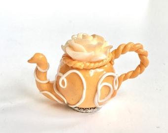 Floral Teapot - 1/12 scale handmade miniature