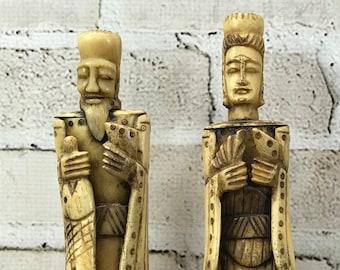 Carved Bone Figures Etsy