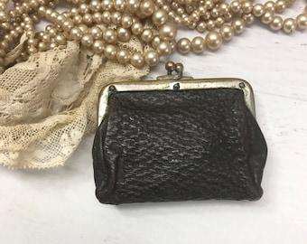 Victorian Bright Yellow Silk Satin Coin Purse Antique 1800s Mini Women/'s Dance Bag