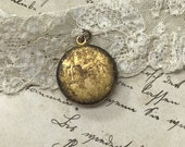 Vintage Locket- Elsie Engraved- Gold Toned with Aged Patina- F B Foster and Bailey Company- Engraved Insert your Pictures