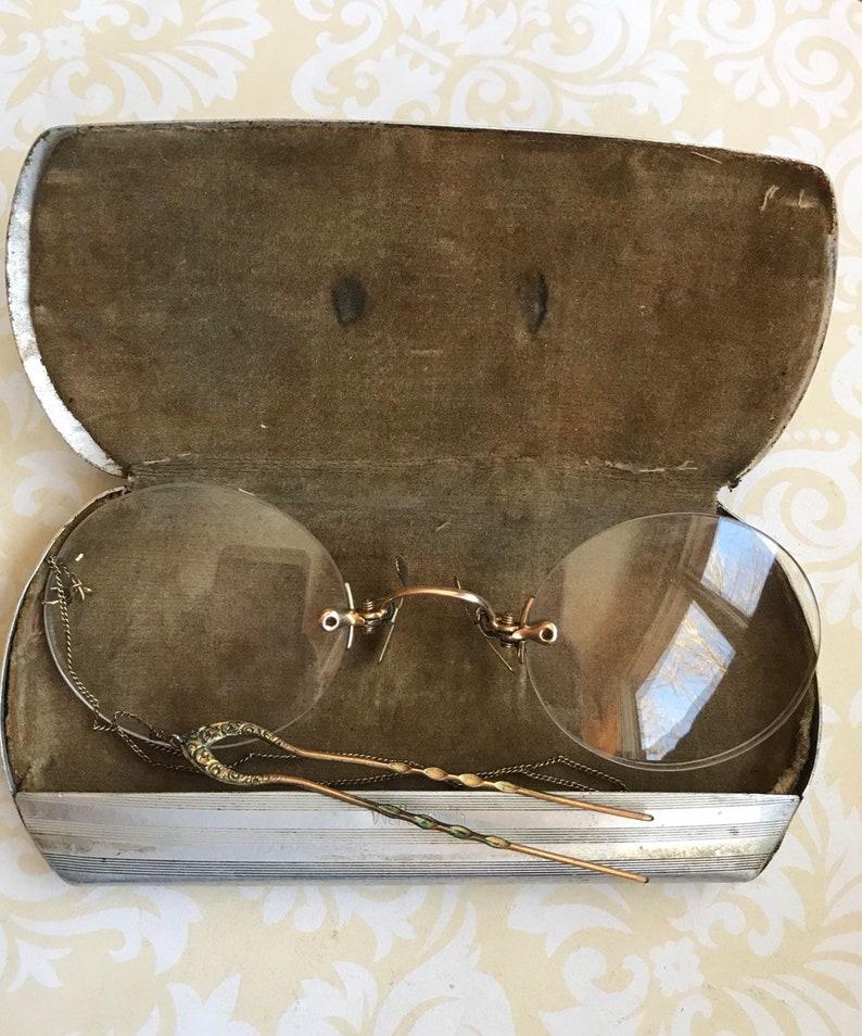 f2e8c12ea4c Antique EYE Glasses Spectacles Nose Pinch Glasses Original