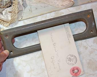 Vintage Mail Slot Metal Salvaged Hardware