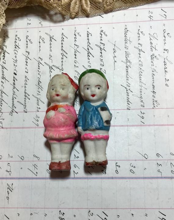 Dolls Supply Antique Bisque Doll Set Of Dutch Boy& Girl Made In Japan Other Antique Bisque Dolls