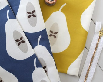 Pear Collection fabric pack -  Ink Blue and Mustard Yellow