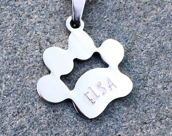Personalized Paw Print Necklace, Personalized Dog Tag, Personalized Cat Necklace, Custom Pet Necklace, Pet Tag, Custom Pet Jewelry, Puppy