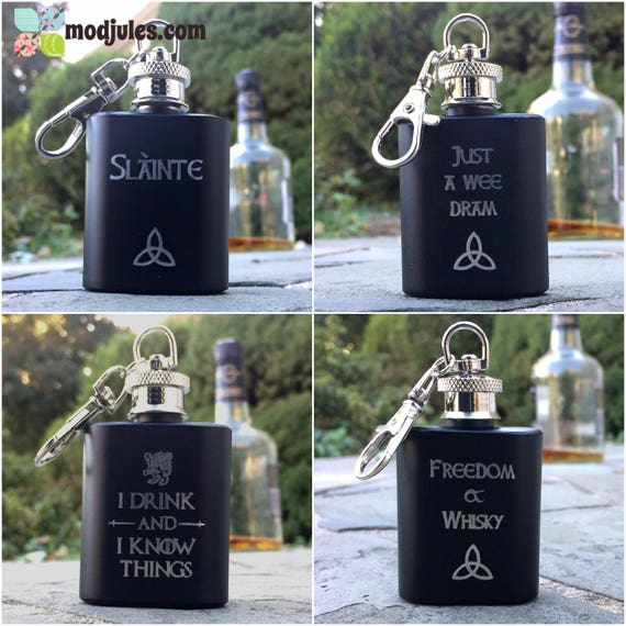 Just a Wee Dram Mini Hip Flask Personalized /& Engraved