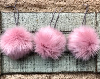 e88267a4613 Blush FAUX FUR POM pom/Luxury pom pom/Fake Fur/Cruelty Free/Large Pom/Fur  Ball/5 Inch