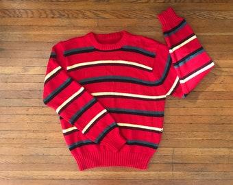 vintage crew neck sweater. M