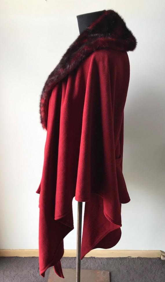 Crimson Fantasy Cloak, Red Riding Hood Cape, Cosp… - image 4