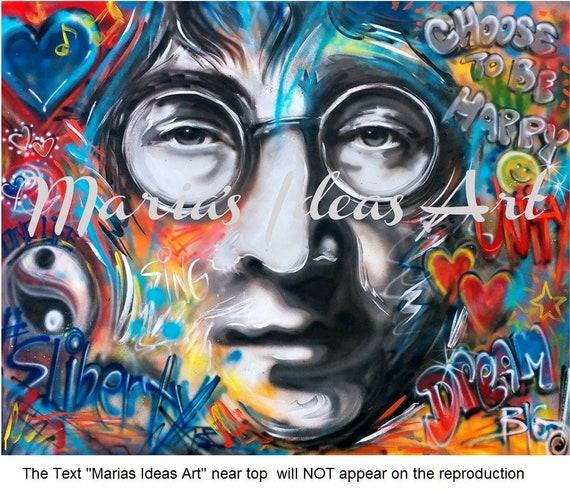 Peace Wall Art Modern Wall Art Peace Love Lennon Graffiti Art Inspirational Art Quotes Marias Ideas Marias Ideas Art