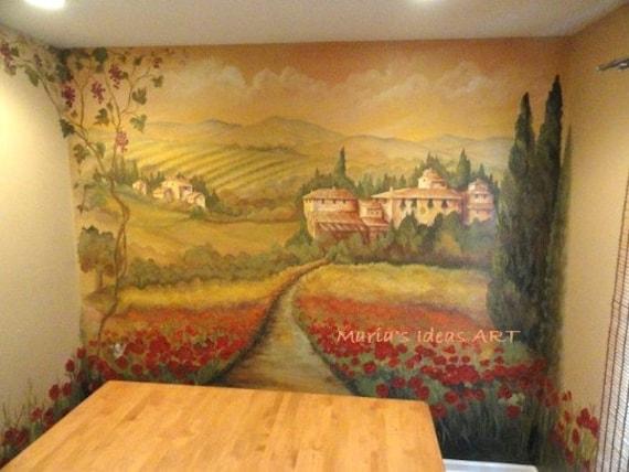 Estimate For Tuscan Mural Vineyard Murals Wall