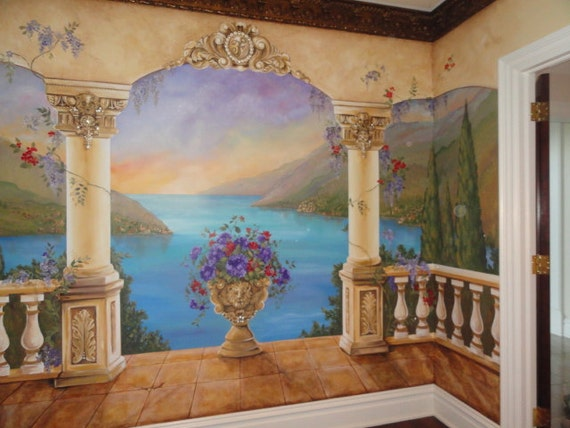 Estimation Pour Peinture Murale Personnalisée Fresque De La Méditerranée Décoratif Peinture Restaurant Italien Art Mural Personnalisé