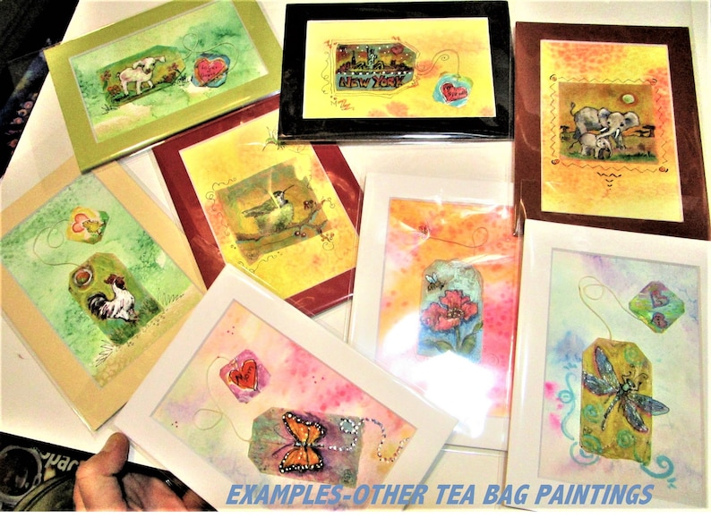 Sun with face Inspirational art Sunshine art Marias Ideas Art Painted tea bag Art with Bling Sunshine quote Sunshine painting