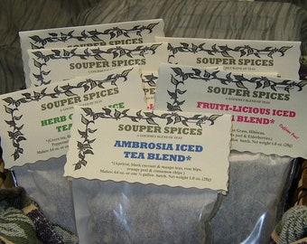 Teas, Tea Gift Set, Iced Tea, Tea, Green Tea, , Gift Set, Tea Set, Tea Gift, 4th of July, Gift for her, Housewarming Gift, Thank You Gift