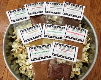 Popcorn, Popcorn Seasoning, Popcorn Mix, Popcorn Flavor, Gourmet Popcorn, Spicy Popcorn, 4th of July Gift, Gifts for Him, Salt Free