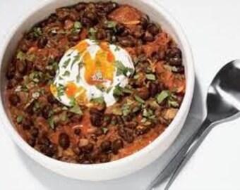 Black Bean Chili Mix-Chili Mix, Seasoning Mix, All natural, Herbs and Spices, Salt Free, Black beans, onion flakes, chili powder, cumin...